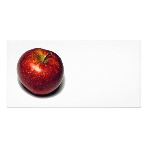 Apple rojo tarjeta personal con foto