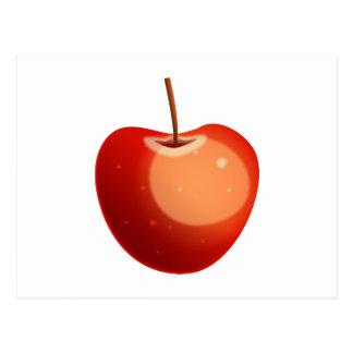 Apple rojo tarjeta postal