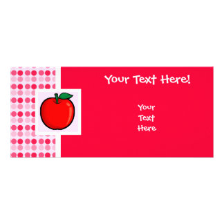 Apple rojo tarjeta publicitaria