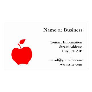 Apple rojo tarjetas de visita