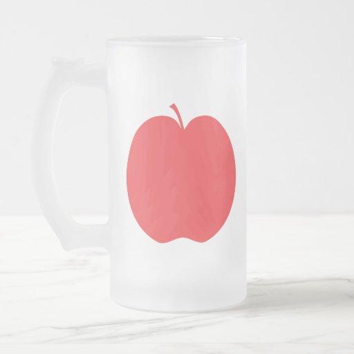 Apple rojo taza