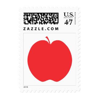 Apple rojo timbre postal