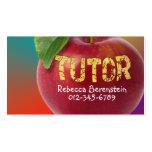 Apple rojo Tutor la tarjeta de visita anaranjada d
