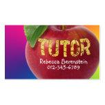 Apple rojo Tutor la tarjeta de visita azul roja