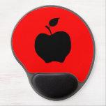 Apple rojo y negro alfombrilla de ratón con gel