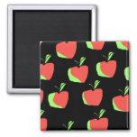 Apple rojo y verde modela imán de frigorífico