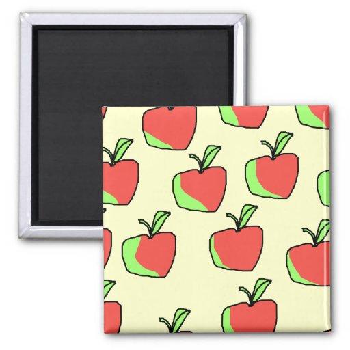 Apple rojo y verde modela imán para frigorifico