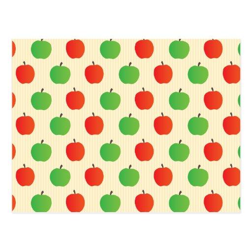 Apple rojo y verde modela postal
