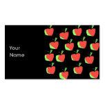 Apple rojo y verde modela tarjetas de visita
