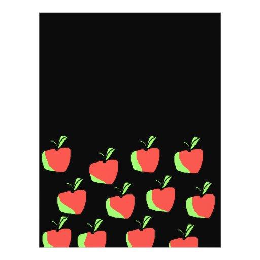 Apple rojo y verde modela tarjeton