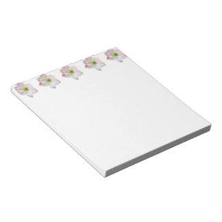 Apple rosado florece libreta del Amaryllis Bloc De Papel