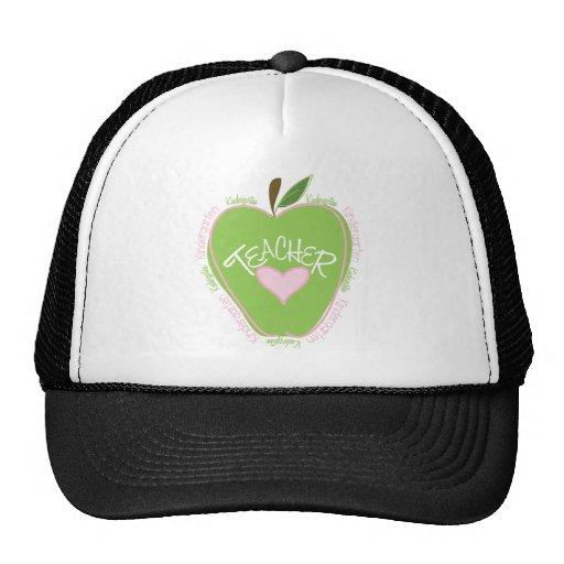 Apple rosado y verde del maestro de jardín de infa gorro de camionero
