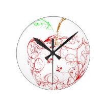 apple round clock