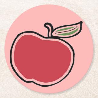Apple Round Paper Coaster