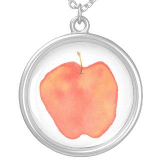 Apple Round Pendant Necklace