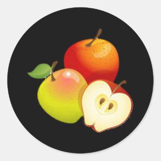 Apple Round Stickers