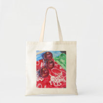 """Apple Round-up"" Oil Painting Tote Bag"