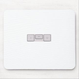 Apple (salida de I U) LE ESCAPO Alfombrillas De Ratones