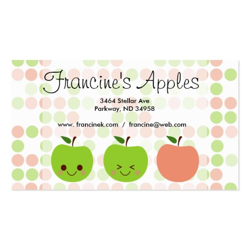 Apple Sass Business Cards