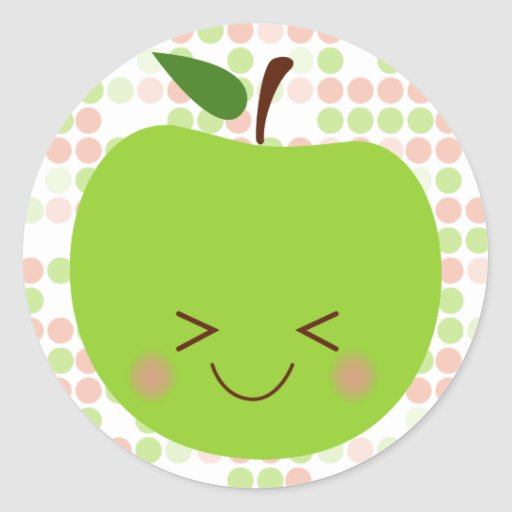 Apple Sass Classic Round Sticker