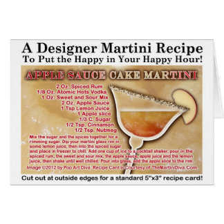 Apple Sauce Cake Martini Recipe Greeting Card