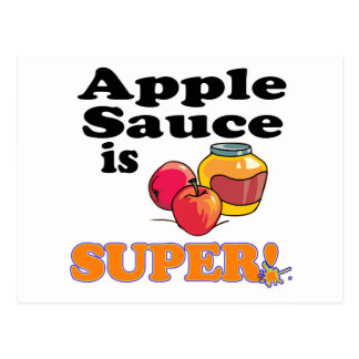 apple sauce is super postcard