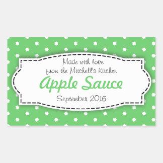 Apple Sauce preserve green food label sticker
