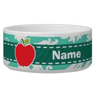 Apple; Seafoam Green Damask Bowl