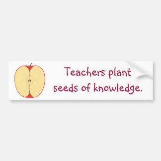 Apple Seeds of Knowledge Bumper Stickers