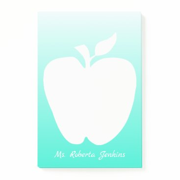 Professional Business Apple Silhouette Teacher's Note Pad