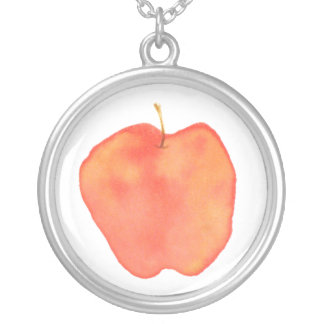 Apple Silver Plated Necklace