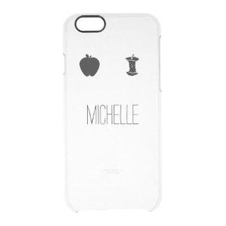 Apple simple que come el claro del nombre funda clearly™ deflector para iPhone 6 de uncommon