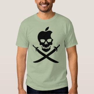 Apple Skull & Swords BLACK T Shirts
