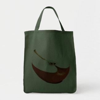 Apple slice grocery tote bag