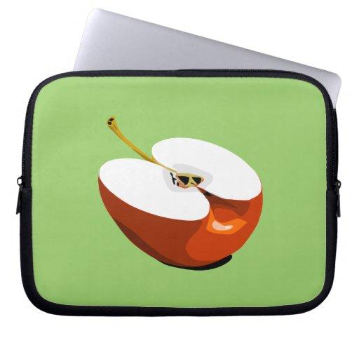 Apple slice laptop sleeve