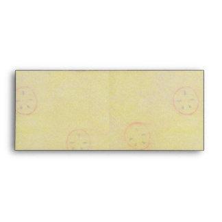 Apple Slice Pentacle Wreath Brown Plaid Envelope
