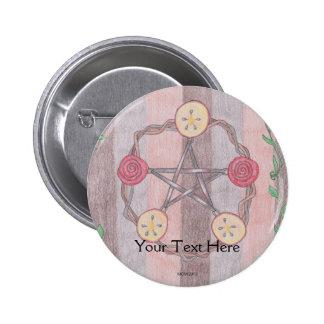 Apple Slice Pentacle Wreath Button