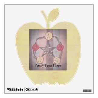 Apple Slice Pentacle Wreath Wall Sticker