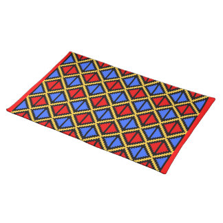 """""""Apple Slice"""" placemat - red/blue Cloth Place Mat"""