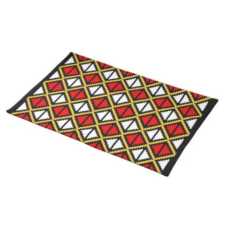 """""""Apple Slice"""" placemat - yellow/red Cloth Place Mat"""