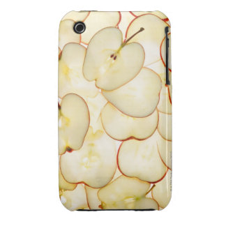 apple slices backlit and arranged in abstract iPhone 3 Case-Mate cases