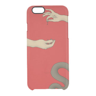 Apple, Snake, Adam And Eve Interactive Design Red Clear iPhone 6/6S Case