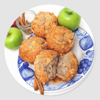 Apple Spice Muffin Classic Round Sticker