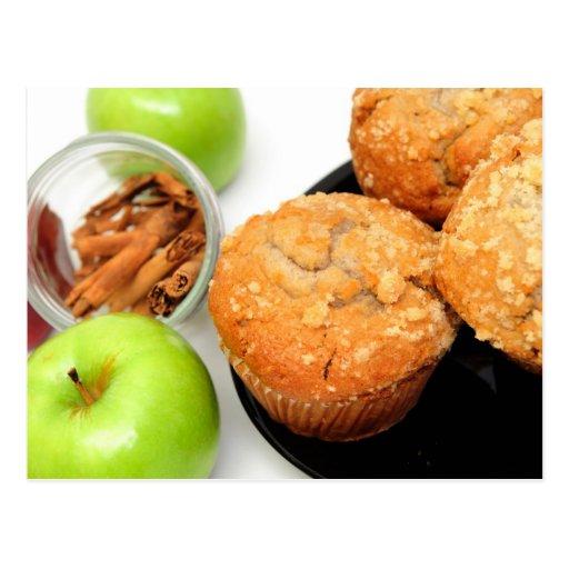 Apple Spice Muffins Postcard