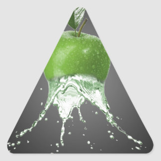 Apple splash triangle sticker
