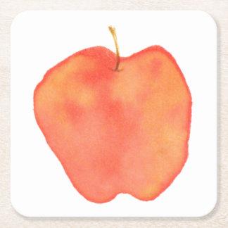 Apple Square Paper Coaster