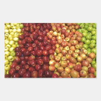 Apple stand rectangular sticker