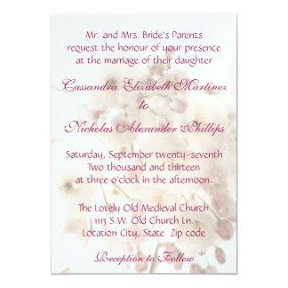 Apple suave florece invitación del boda