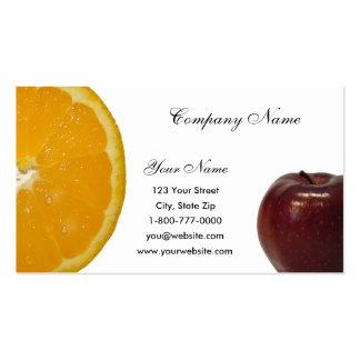 Apple - tarjeta de visita anaranjada