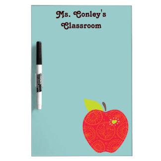 apple teacher classroom dry erase board